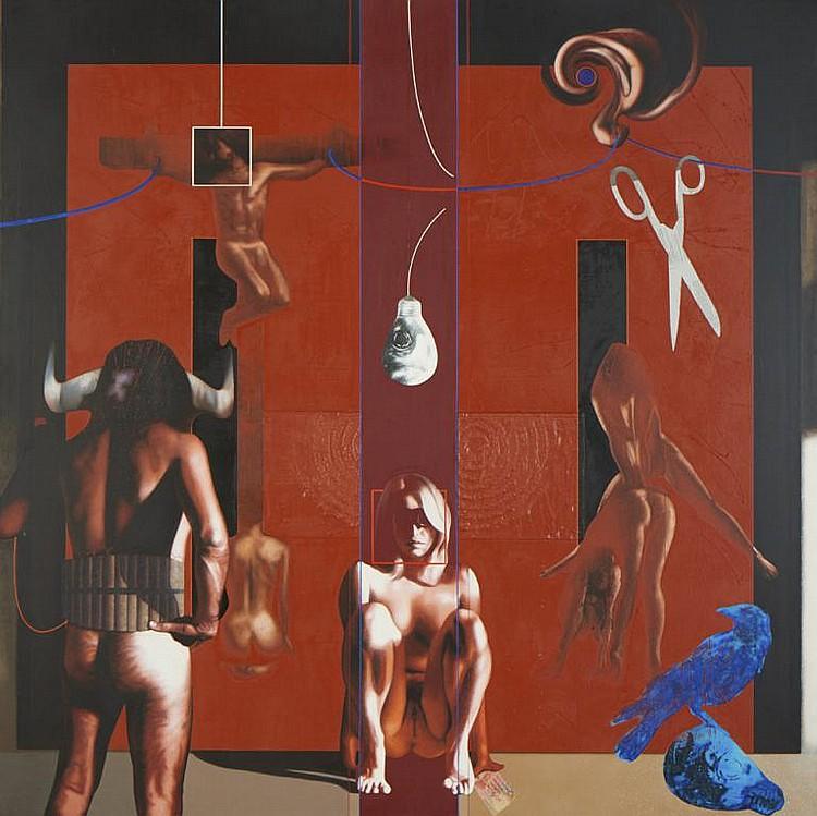 Nuno Medeiros, Óleo sobre tela, 170 x 170 cm