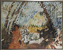 MÁRIO BISMARCK, acrílico e óleo s/tela, 114x146 cm