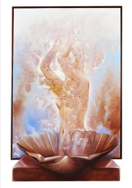 Vieira Baptista,Materialização de ..., óleo,150x92