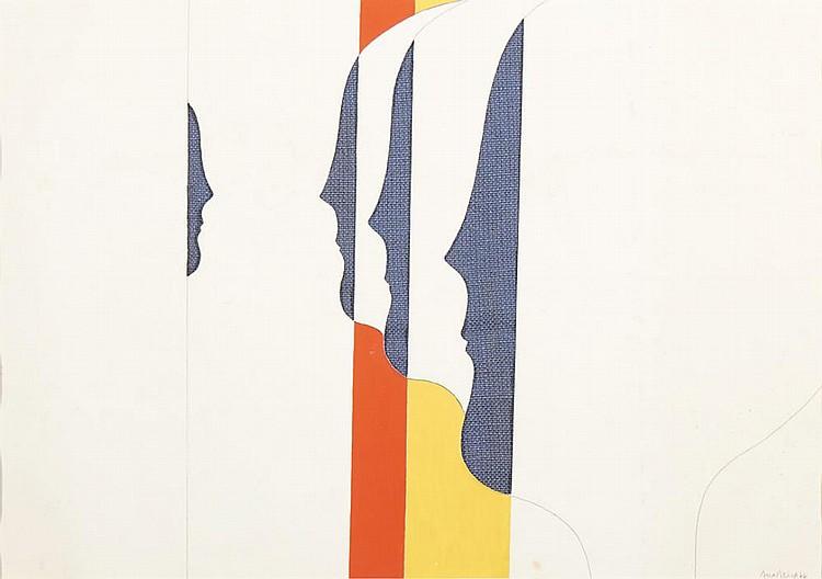 ANA VIEIRA, Desenho sobre papel, 41 x 59 cm.