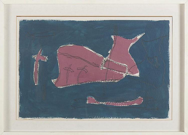Carlos Neto, Acrílico e grafite s/papel, 38 x 57cm