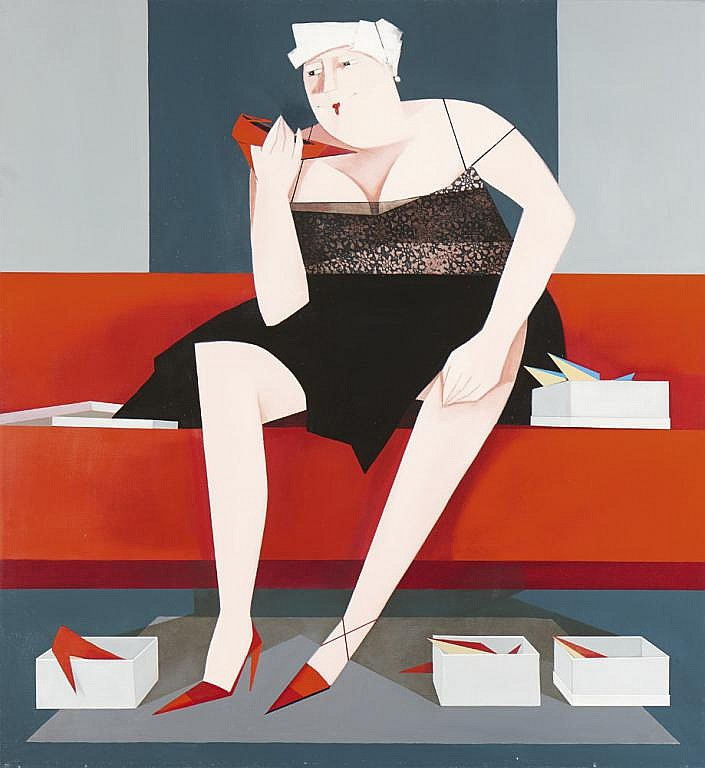 Jean Marie BOOMPUTTE, Óleo s/ tela, 121 x 110