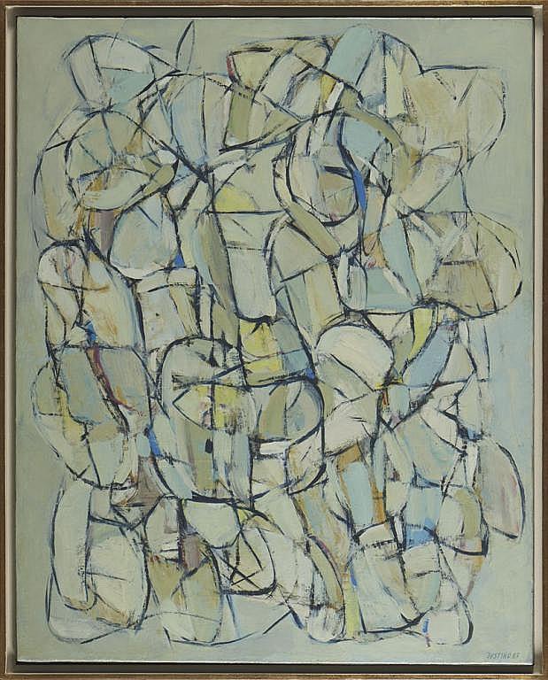 Justino Alves, óleo s/tela, 81x65 cm