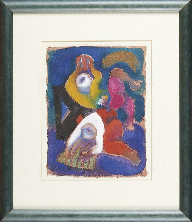 CHICHORRO, Roberto, Aguarela s/papel, 33 x 25 cm.
