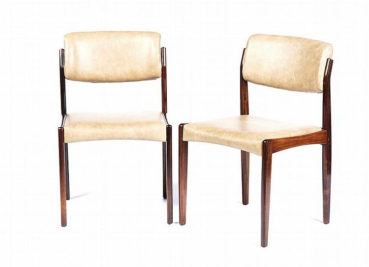 6 cadeiras dinamarquesas em pau santo