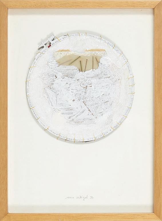 VIDIGAL, mista sobre papel, 40,5 × 30 cm.
