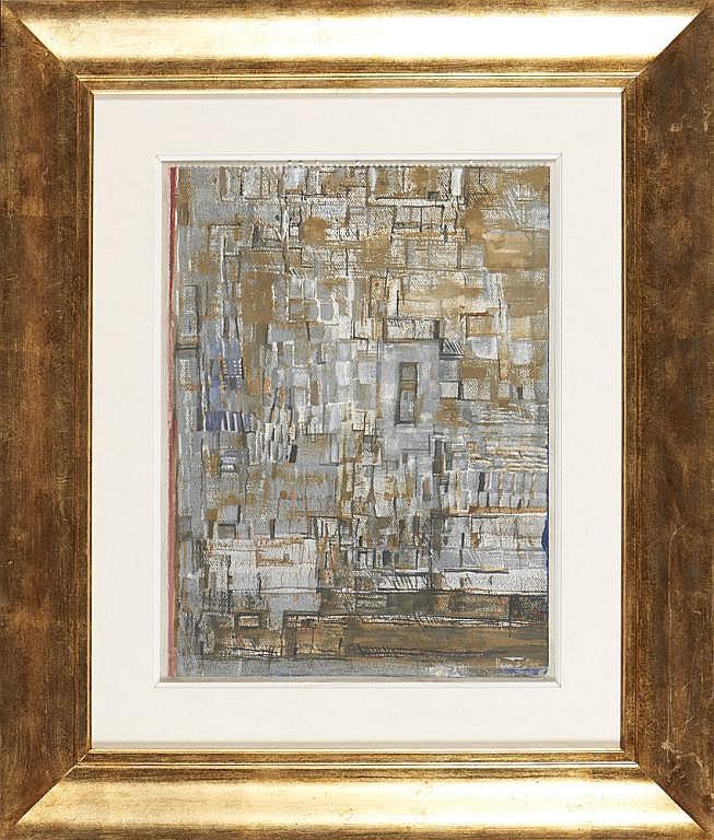 VIEIRA DA SILVA, Têmpera sobre papel, 44,5 x 33 cm