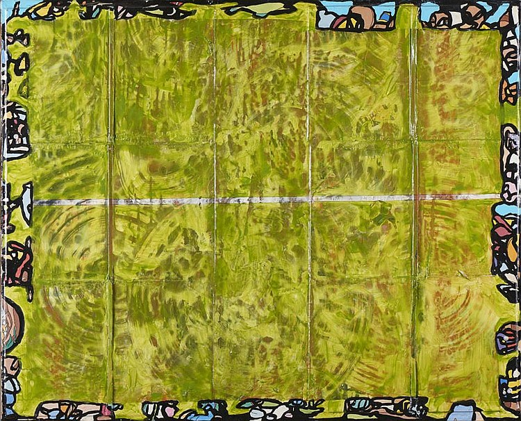 VIDIGAL, mista sobre tela, 81 x 100 cm.