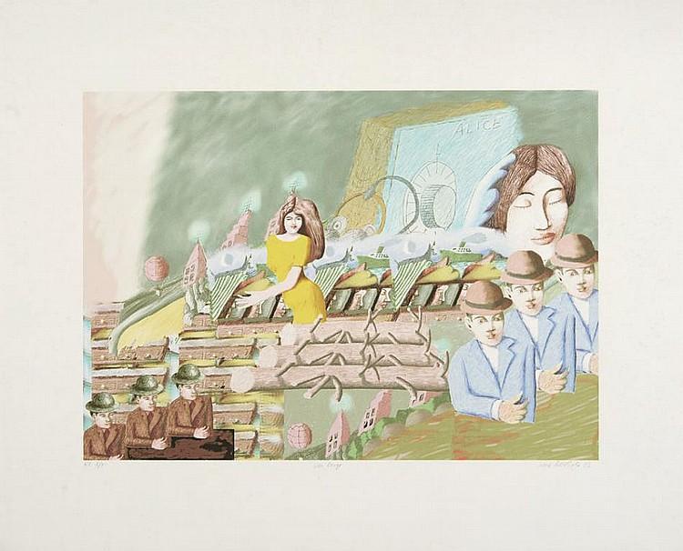 RENÉ BERTHOLO, Serigrafia s/papel, 37,5x52 cm