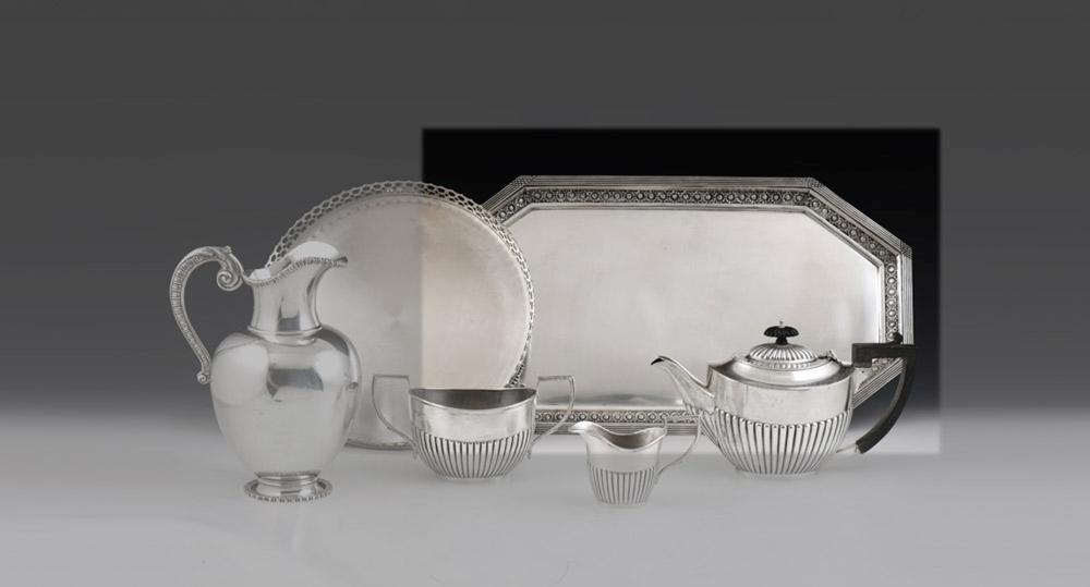 Tabuleiro rectangular em prata 833%, P.1444g