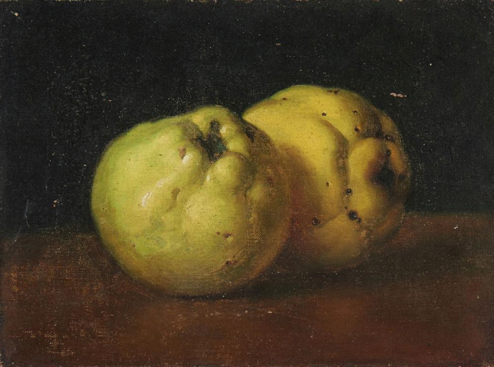 Marmelos, Óleo sobre tela, 18,5 x 25 cm.