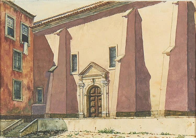 LUÍS SALVADOR, Aguarela sobre papel, 22,5 x 32 cm