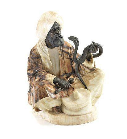 Rudolf FRANCKE, escultura, encantador serpente