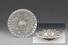 Taça fruteiro em prata, 833 %, P.aprox.:508g.