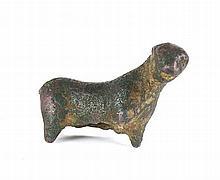 Felino, escultura em bronze, da Idade do Ferro