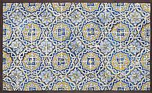 Painel de azulejos de padrão, 89 x 143 cm.