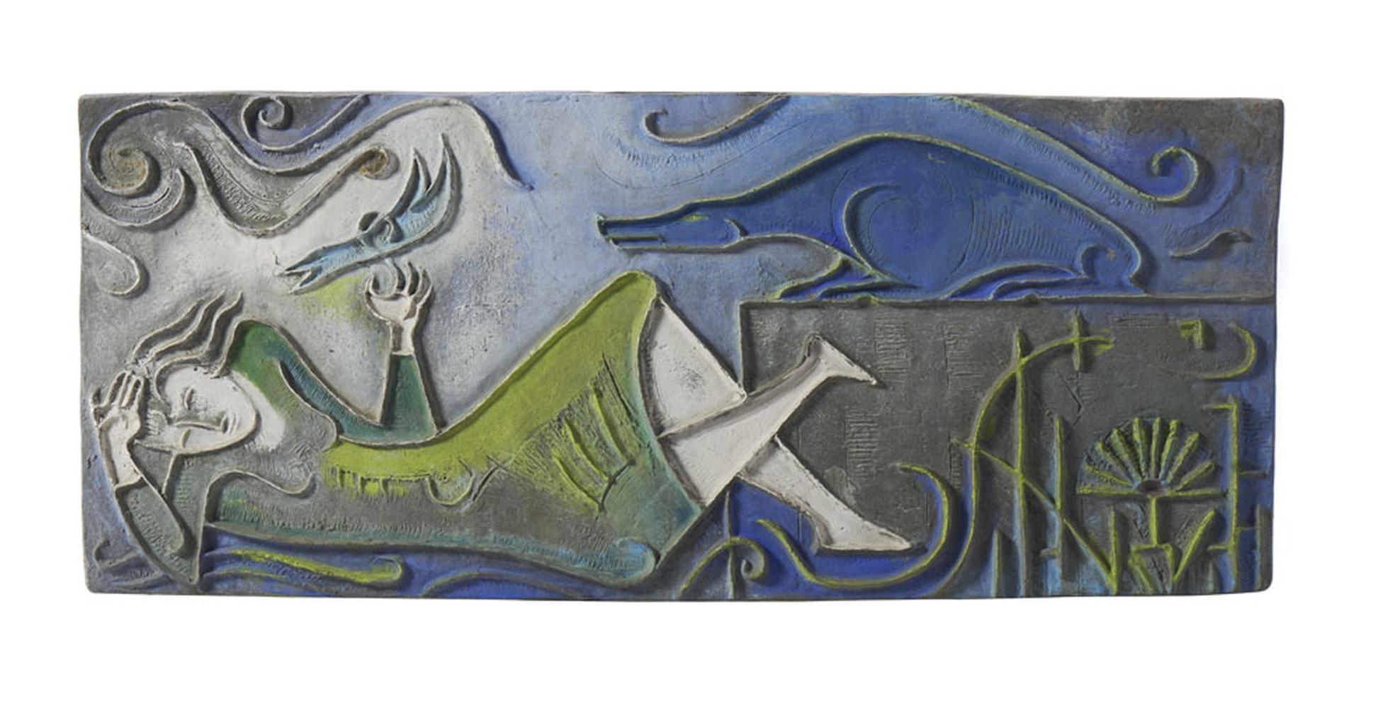 FLÁVIA MONSARAZ, Placa em metal pintado