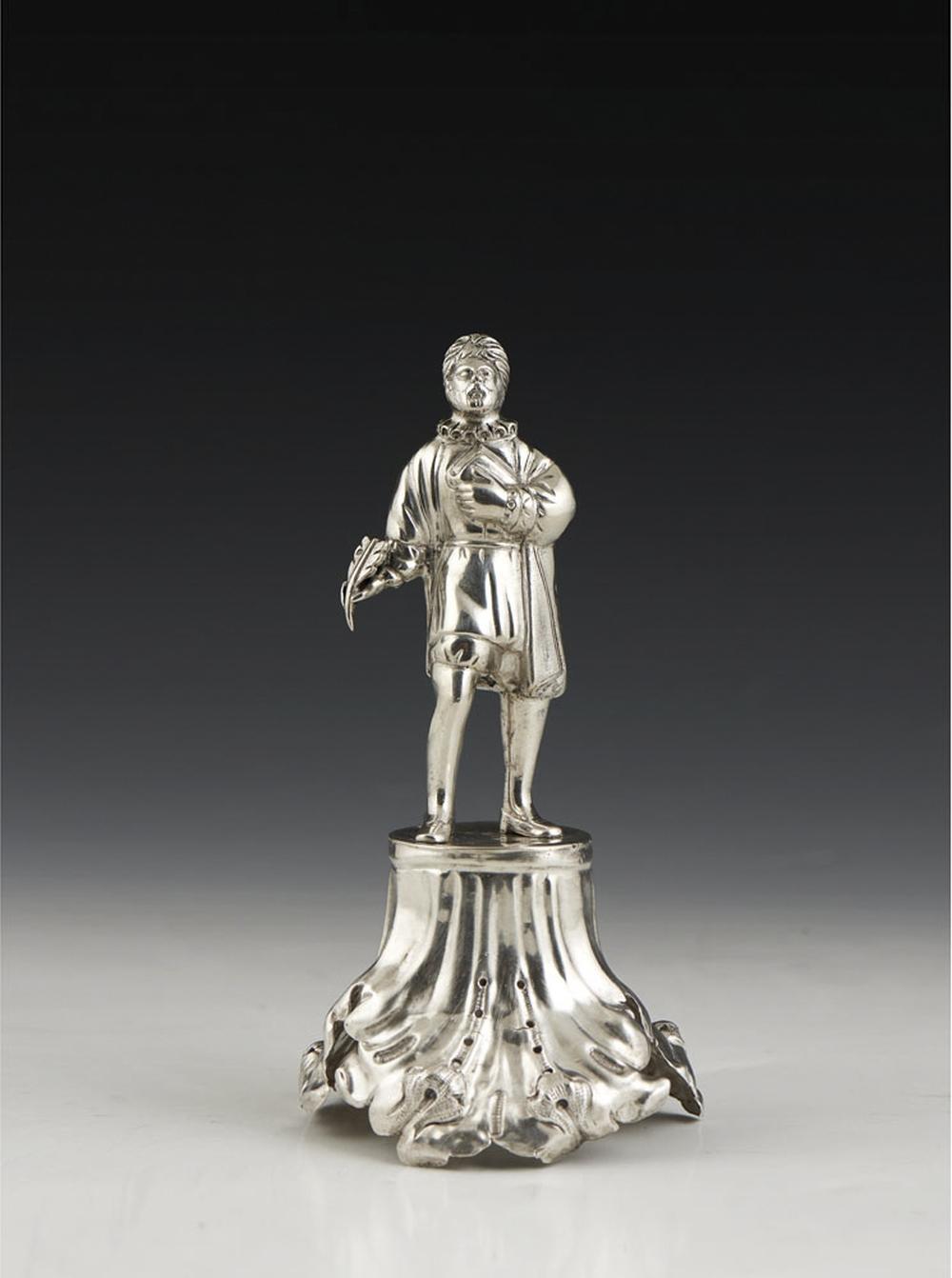 Paliteiro em prata Camões,séc. XIX, P.: 129 gr