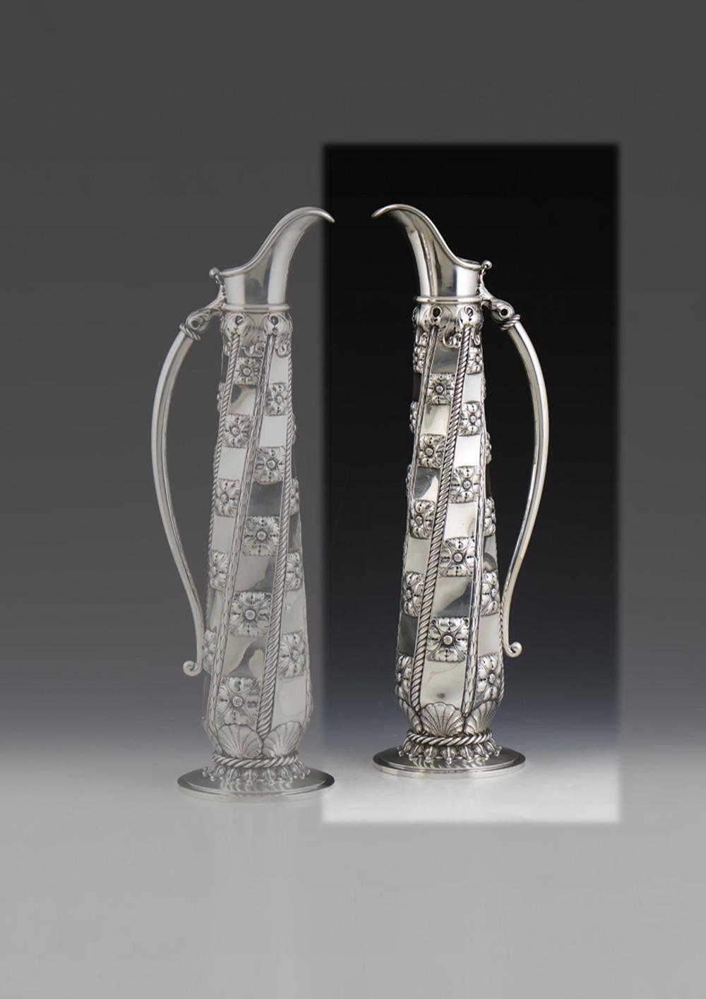 Grande jarro em prata, 915%, P.1636g