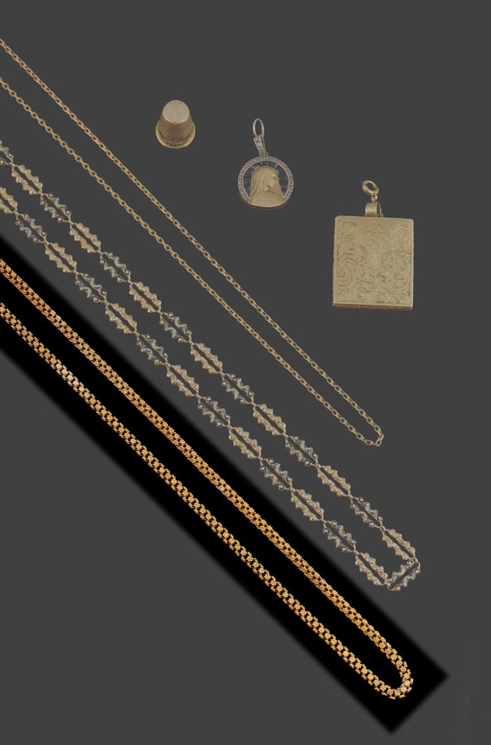 Cordão de ouro, séc. XIX, P. 108g
