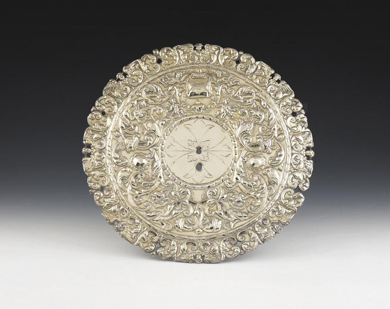 Resplendor em prata dourada, séc. XVII, P.1128g