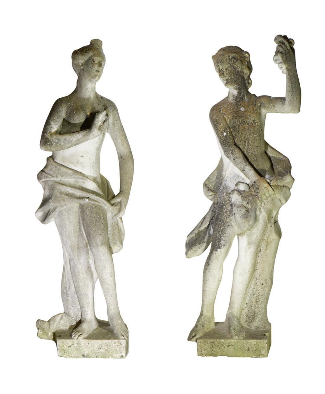 Duas esculturas em mármore (2)