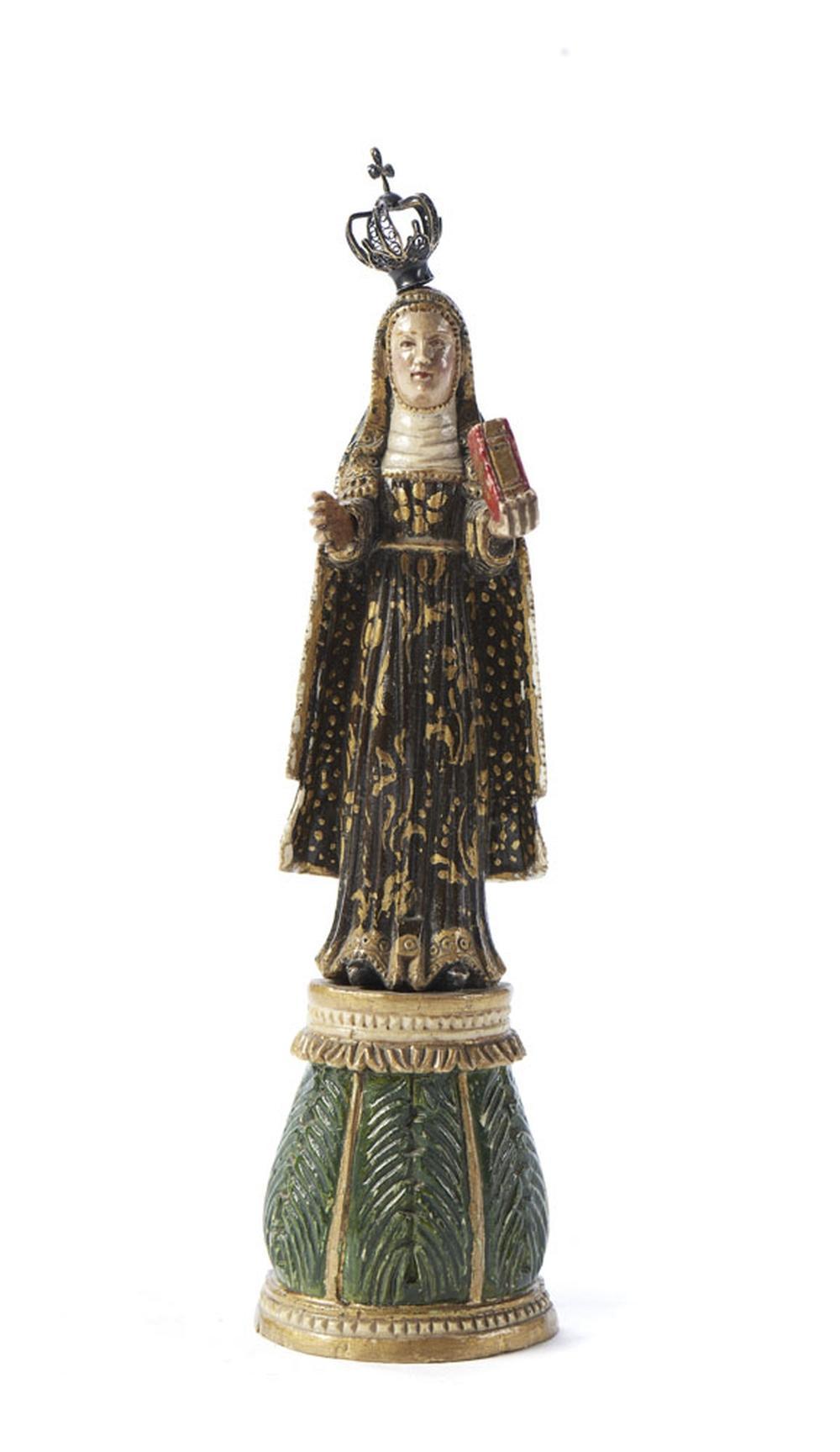 Santa Rita de Cássia, Esc. marfim, 833%, P: 2 g.