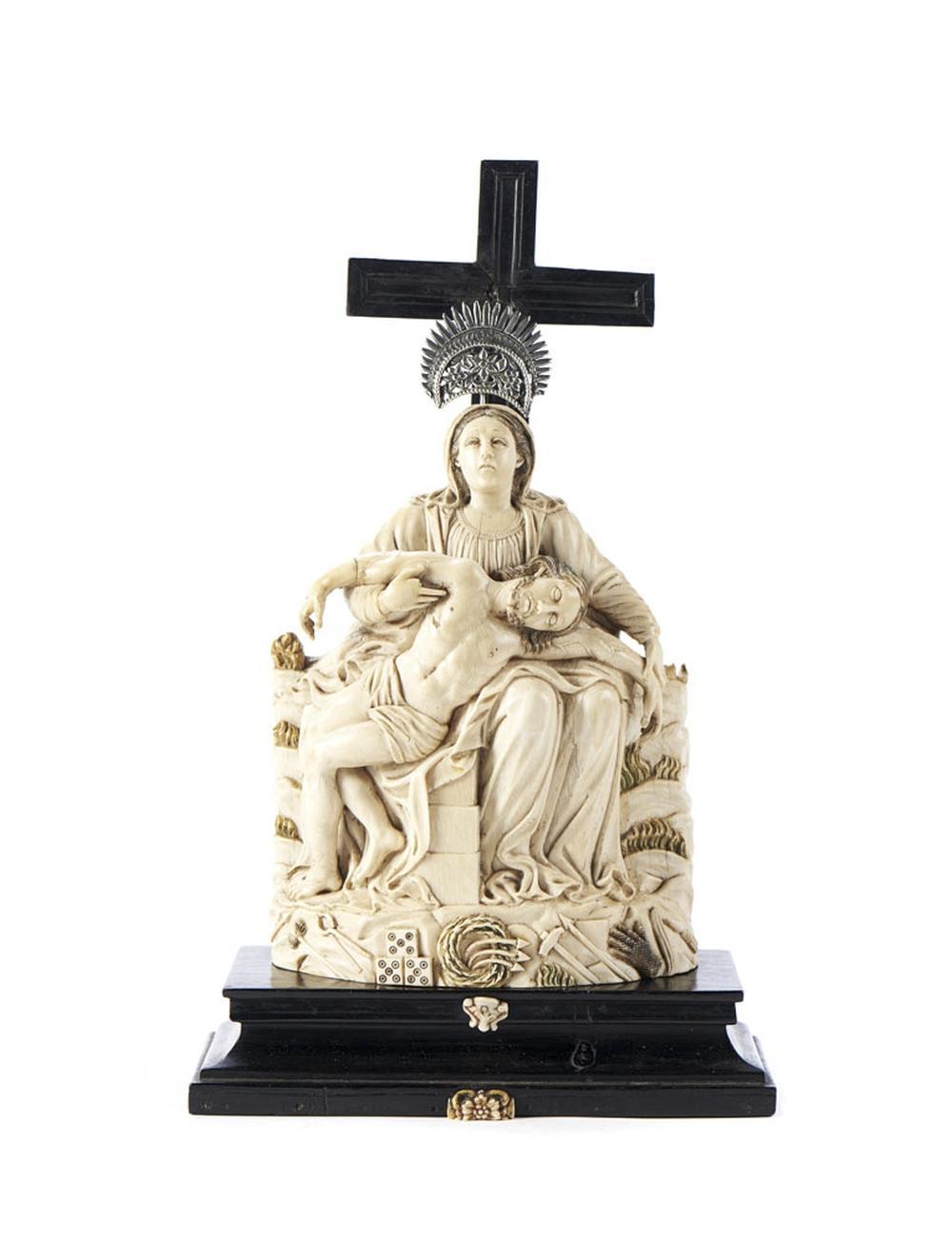 Pietá, escultura Indo-portuguesa do séc. XVII