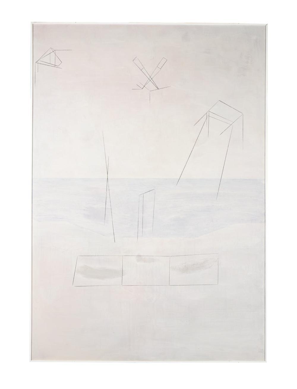 CALAPEZ, Pedro, Acrílico sobre tela, 250 x 174 cm.