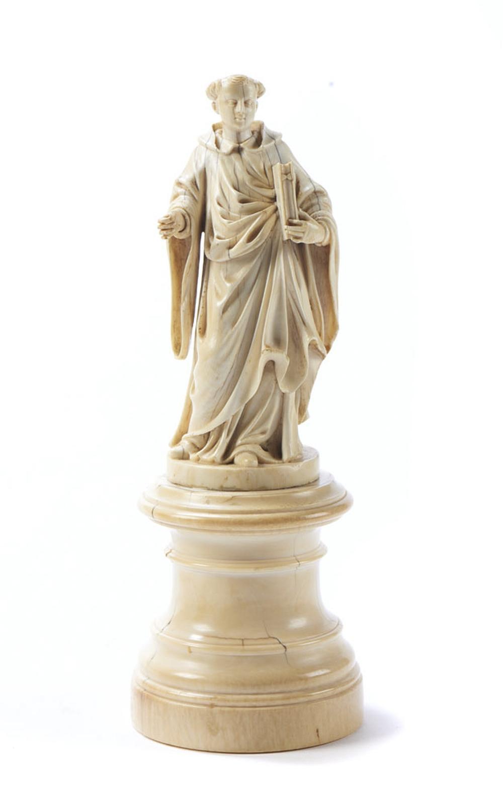 Santo António, escultura do séc. XVIII, em marfim
