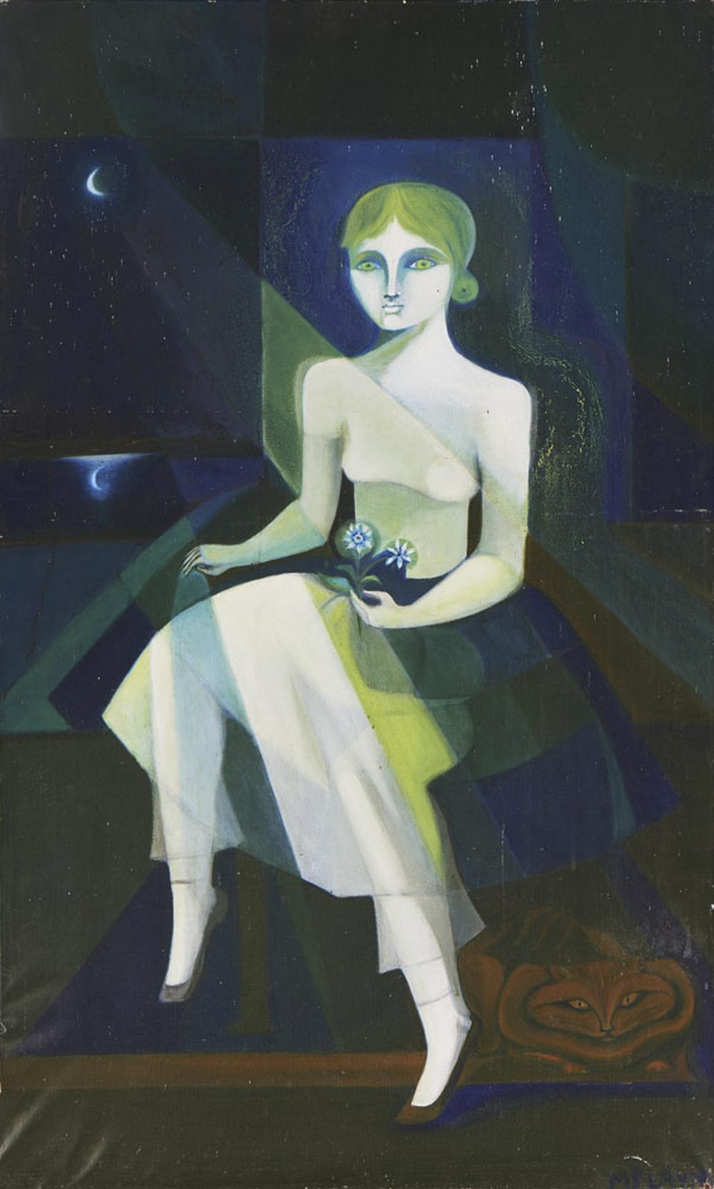 FLÁVIA MONSARAZ, Óleo s/ tela, 13 x 80 cm