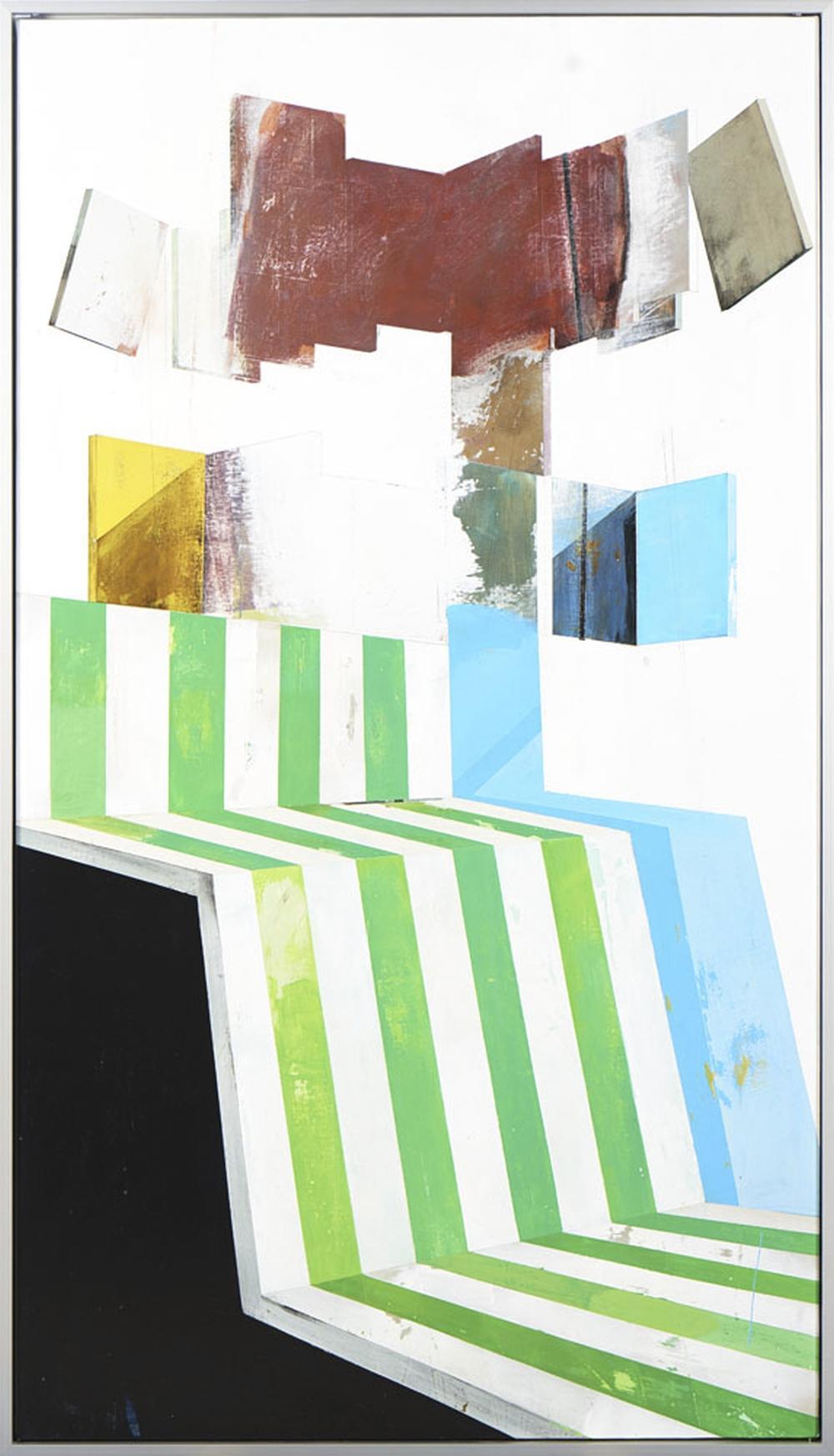 MANUEL CAEIRO, Acrílico sobre tela, 160 x 95 cm.