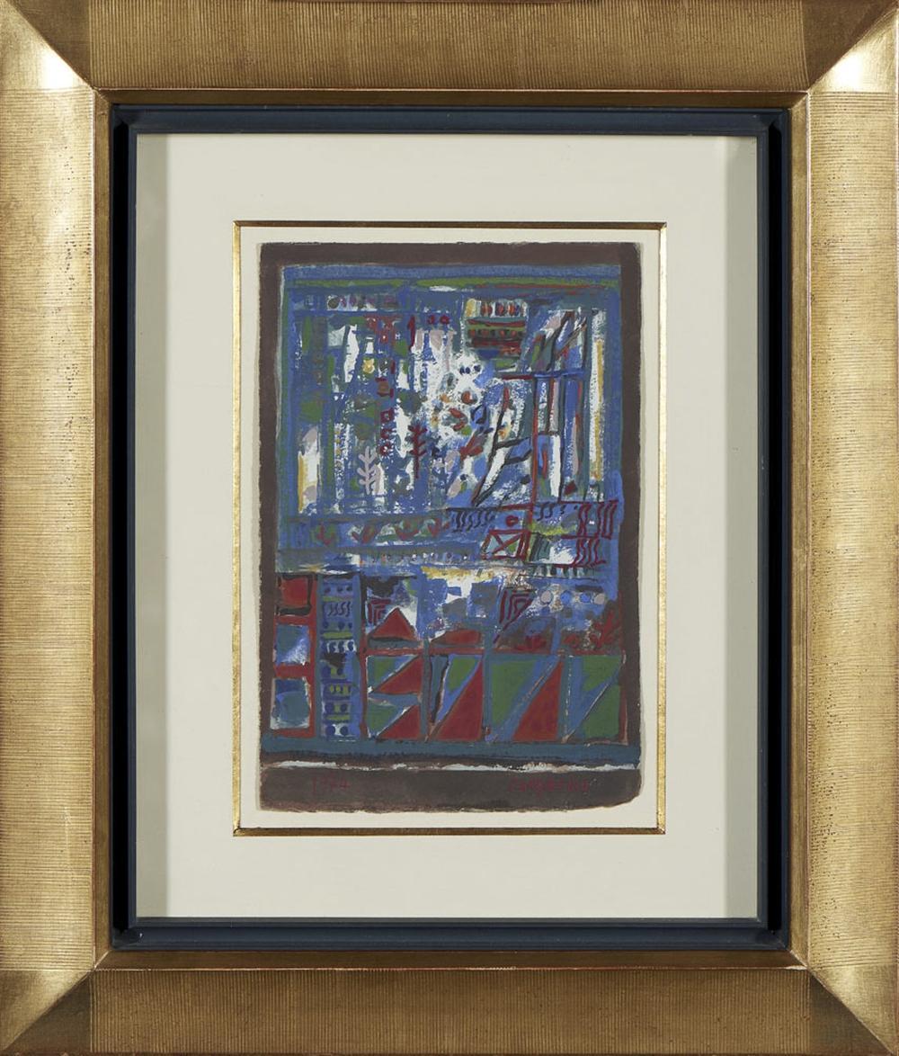 CARGALEIRO, Guache sobre cartão, 28,5 x 19,5 cm.