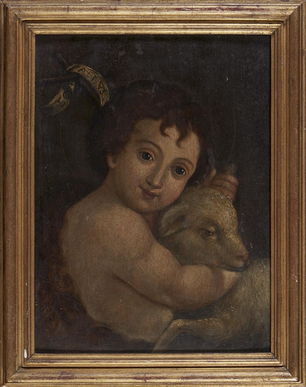 São João Baptista, Óleo sobre tela, 40 x 30 cm.