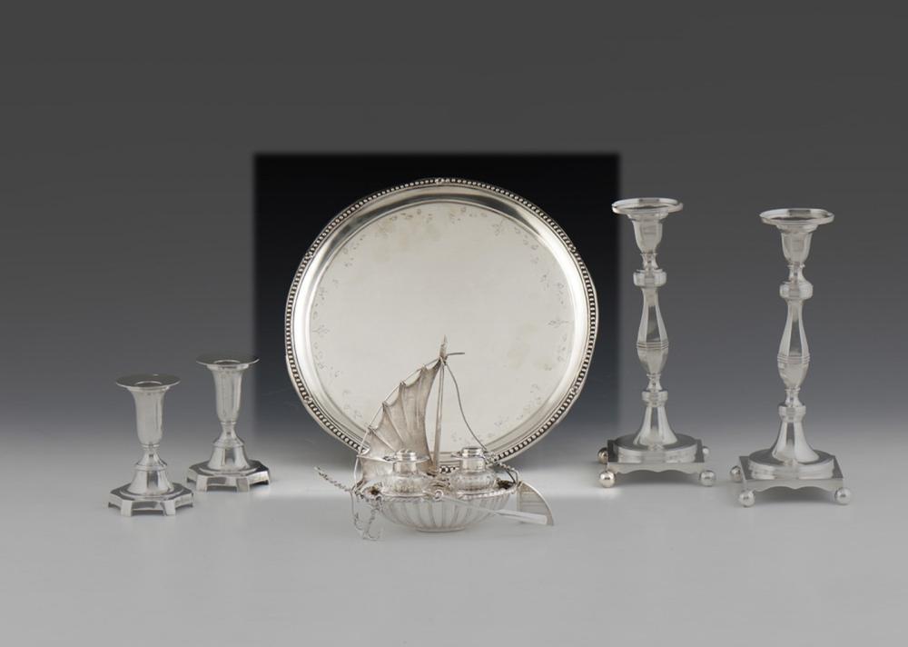 Salva em prata portuguesa, P: 632 g.