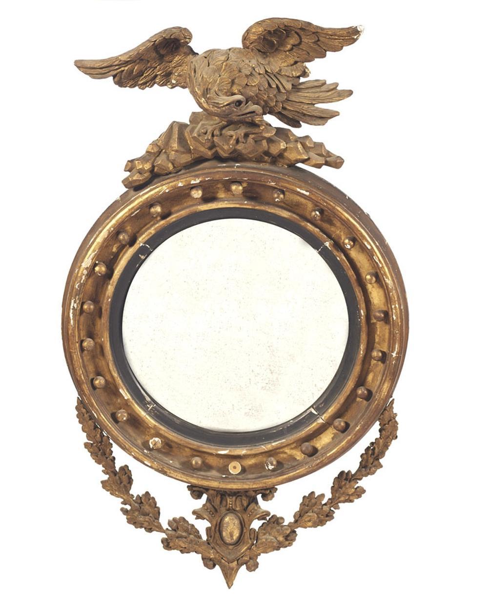 Espelho convexo de formato circular, Império