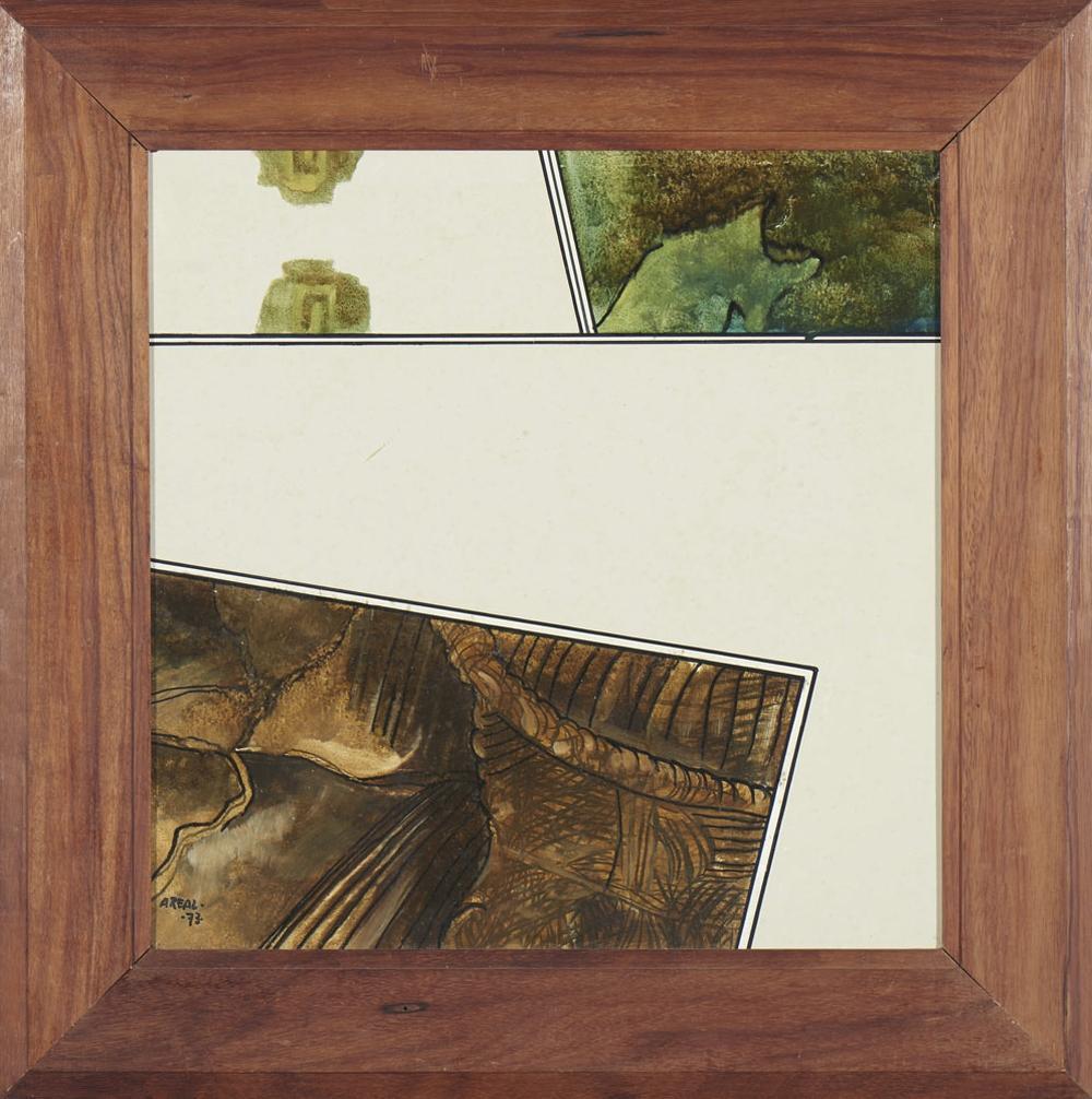AREAL Óleo sobre platex, 50 x 50 cm.