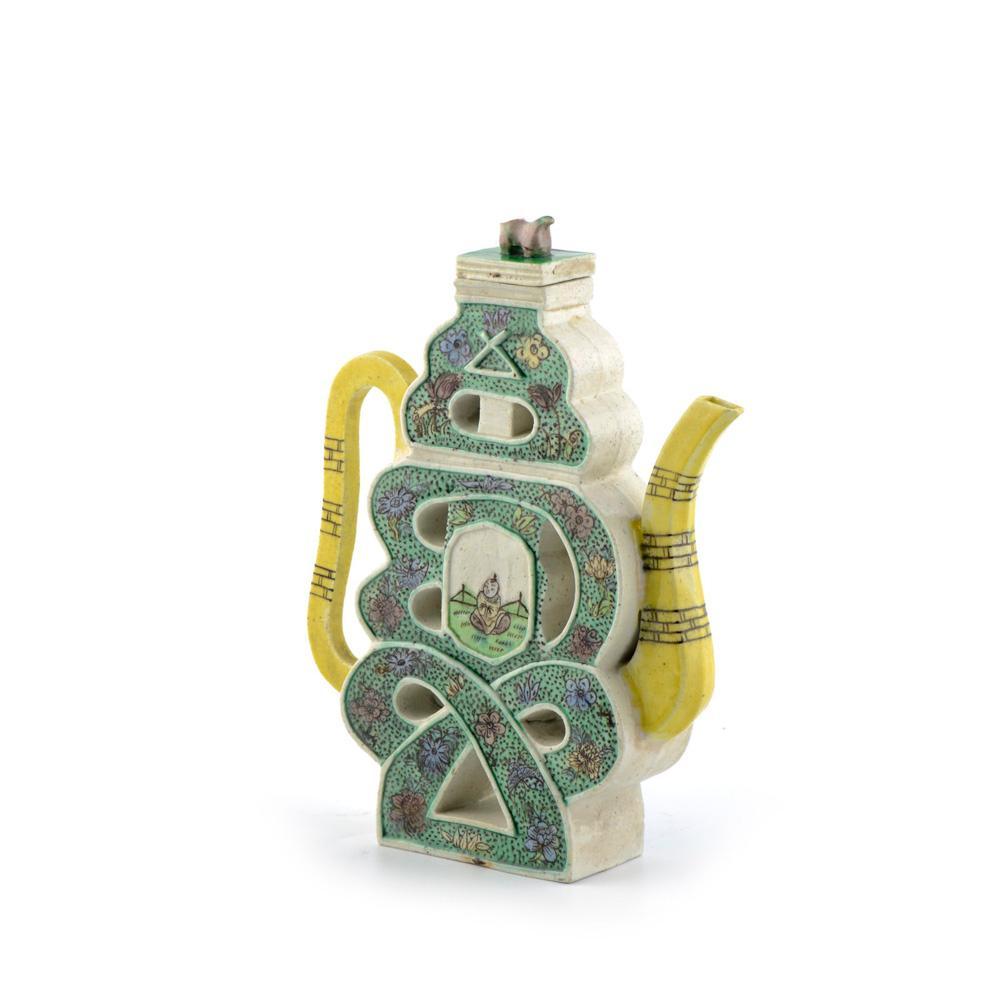 Bule em porcelana chinesa, séc. XIX