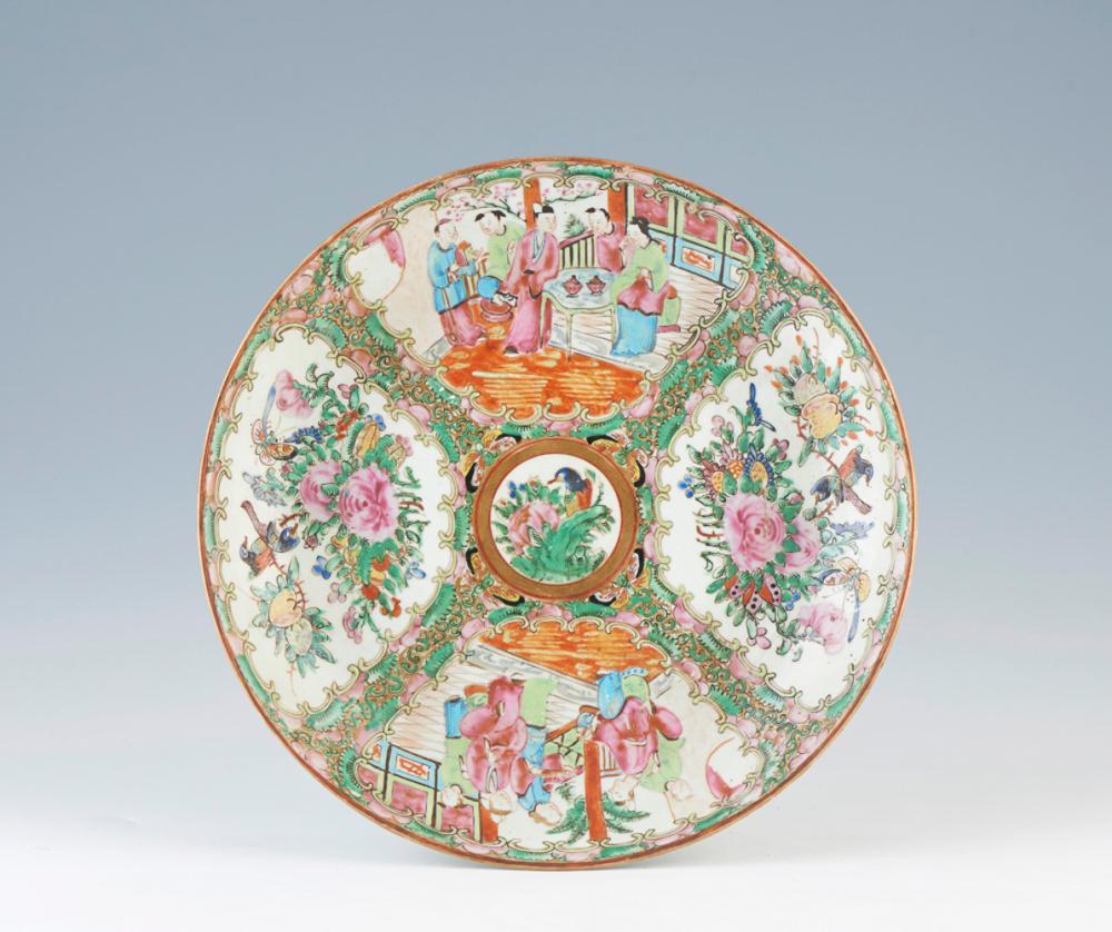 Prato fundo em porcelana chinesa, dita Mandarim