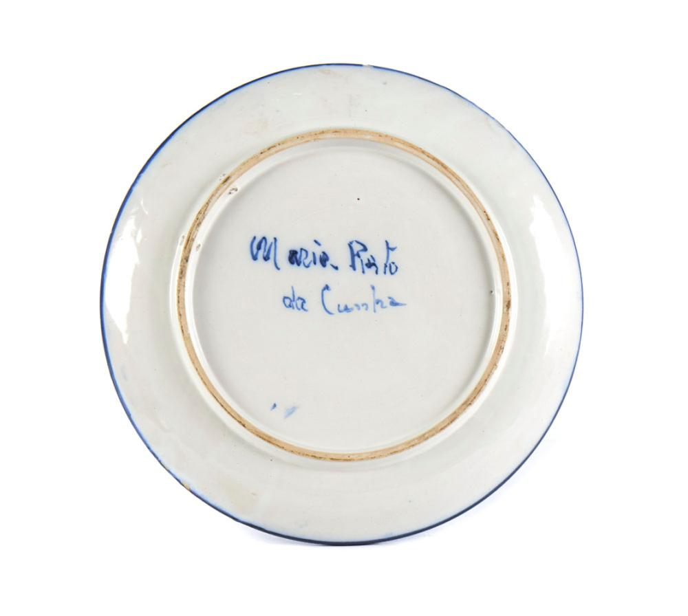 Prato em cerâmica Maria Pinto da Cunha