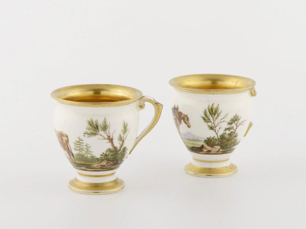 Par de chávenas em porcelana Meissen