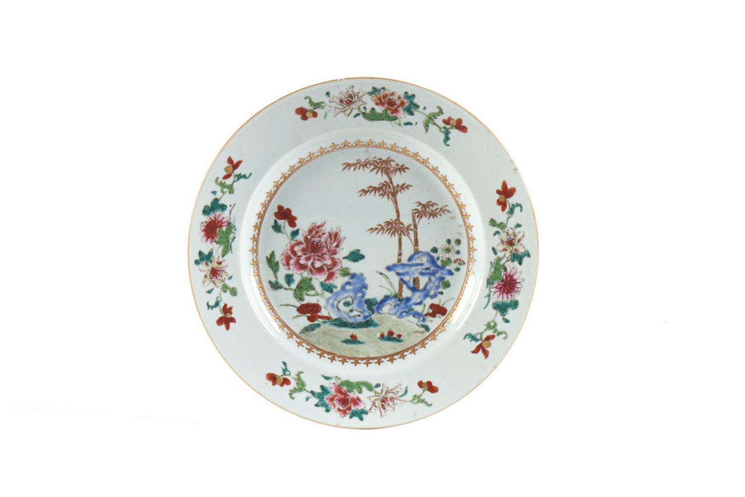 Prato em porcelana chinesa da CI