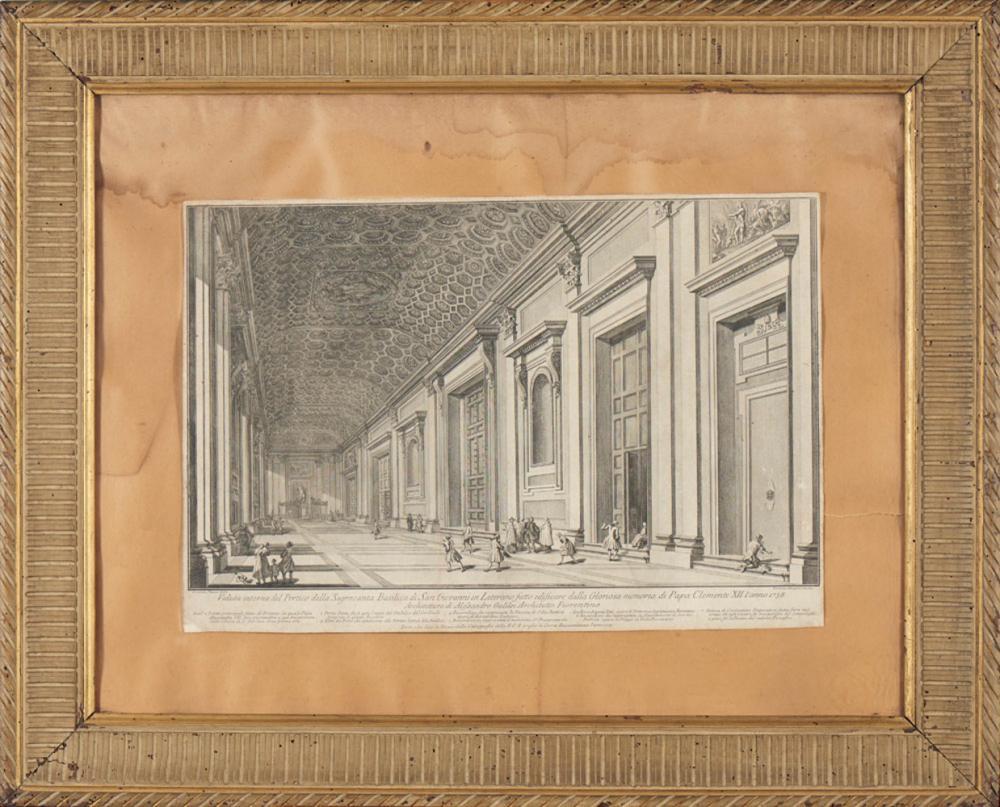 Par de gravuras a negro, 47 x 71 cm. e 46 x 69 cm.