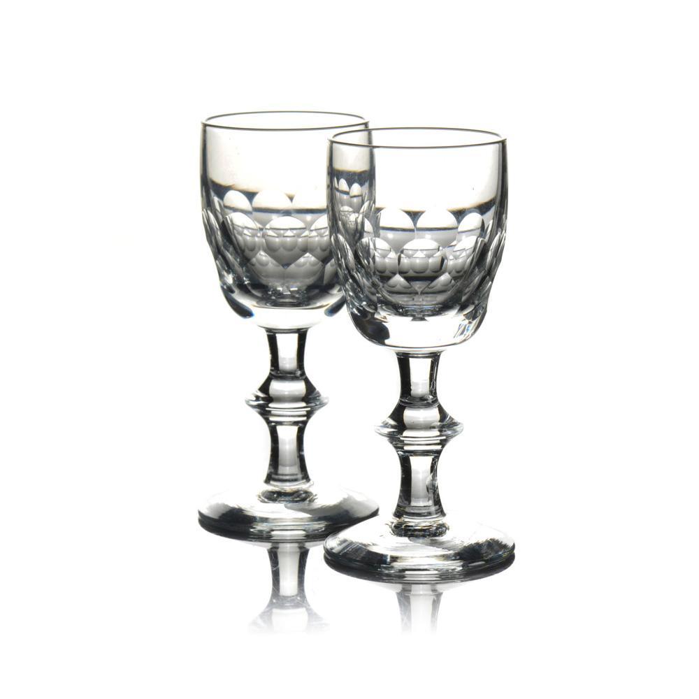 Conjunto de nove copos de licor em vidro (9)