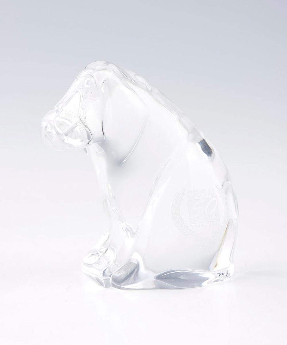 Cão, escultura em cristal Atlantis