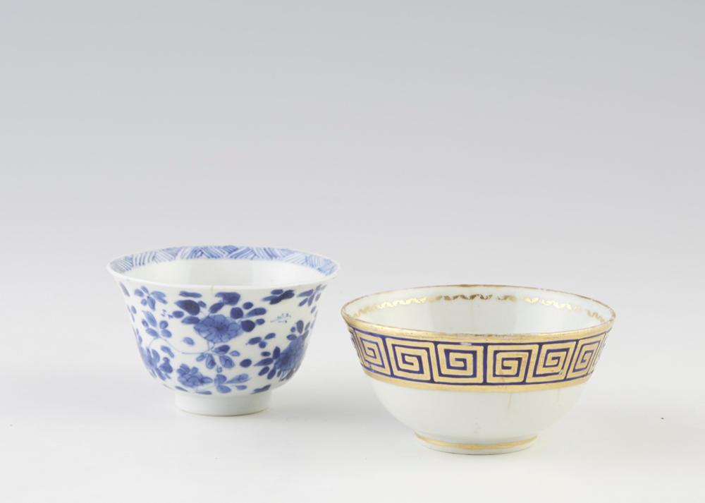 Lote de duas taças em porcelana chinesa CI