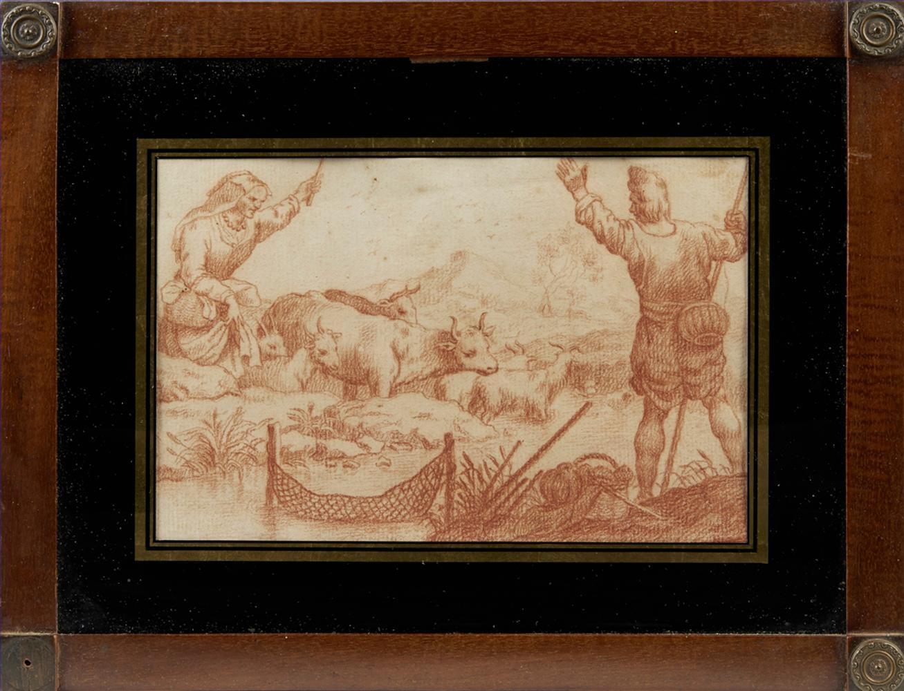 Escola europeia, desenho, 13 x 19,5 cm.