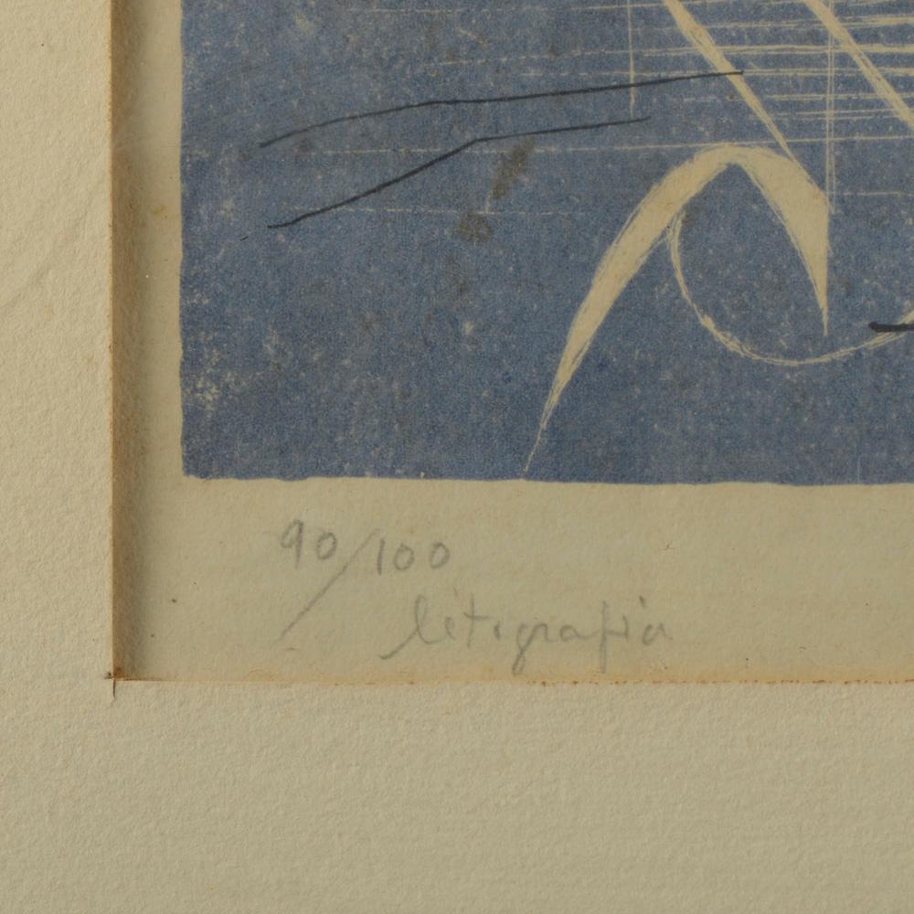BOTELHO, Litografia sobre papel, 32,5 x 46,5 cm.