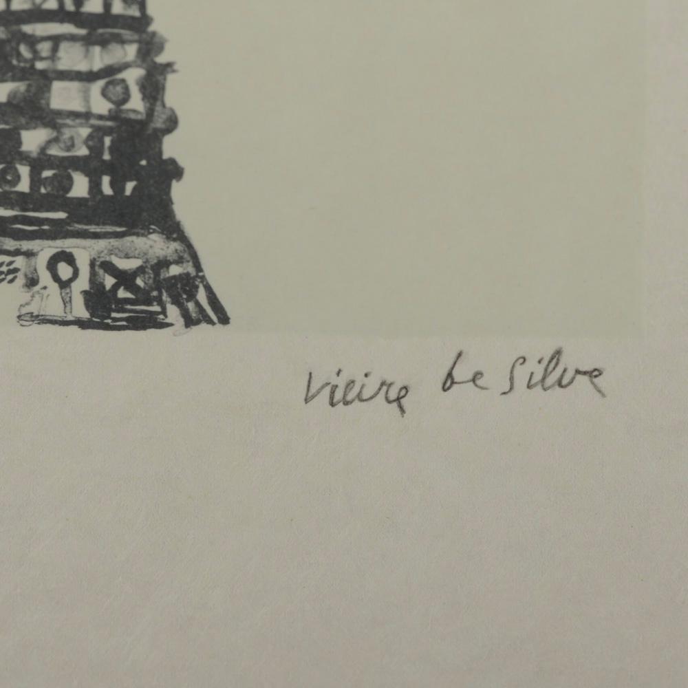 VIEIRA DA SILVA, serigrafia s/papel, 29 x 26,5 cm.