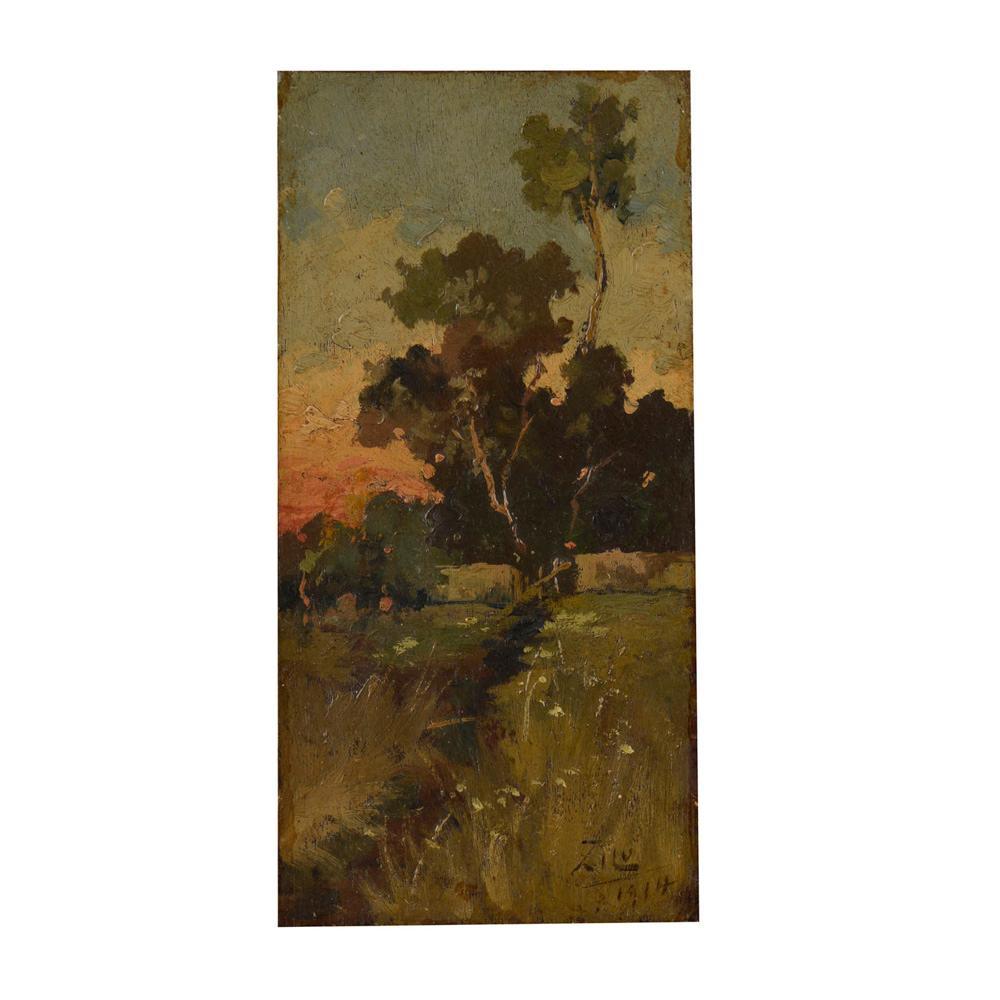 Autor ñ identificado, óleo s/ madeira, 19 x 9,3 cm